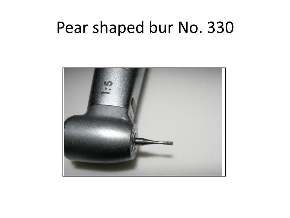 Pear shaped bur No. 330