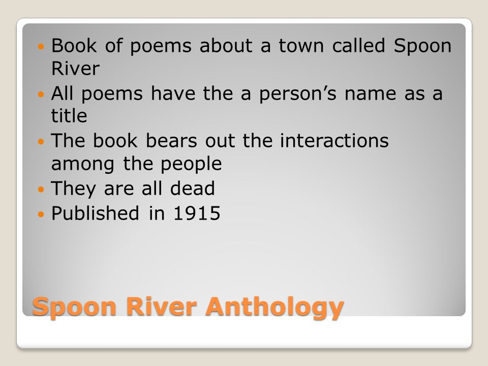 the people of spoon river