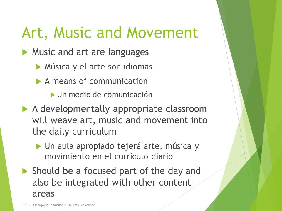 Art, Music and Movement Music and art are languages