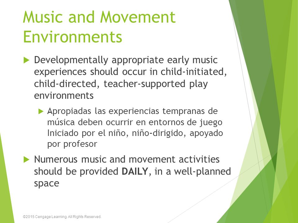 Music and Movement Environments