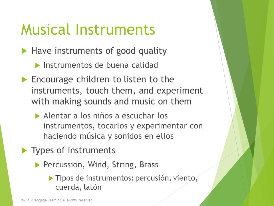 Musical Instruments Have instruments of good quality