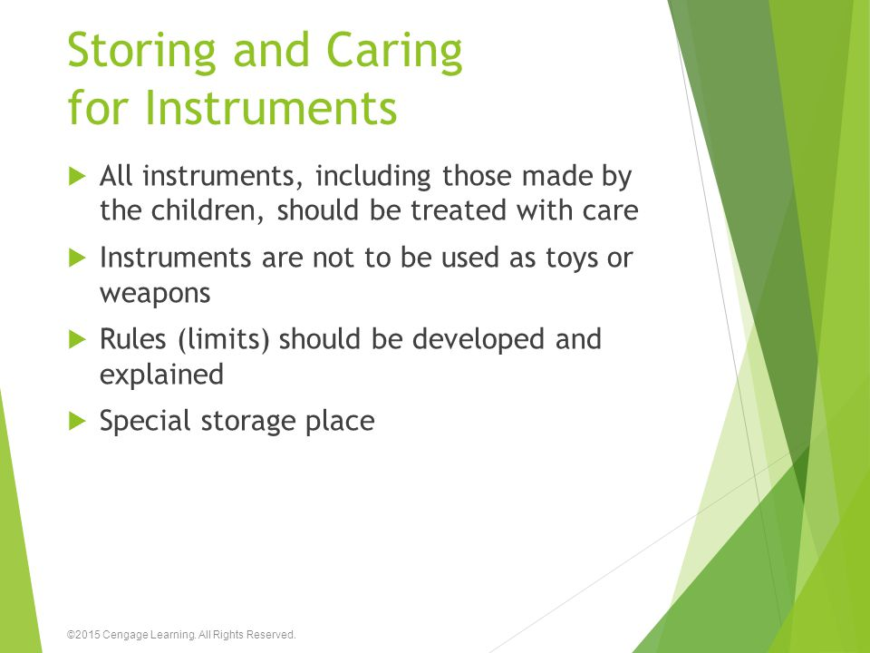 Storing and Caring for Instruments