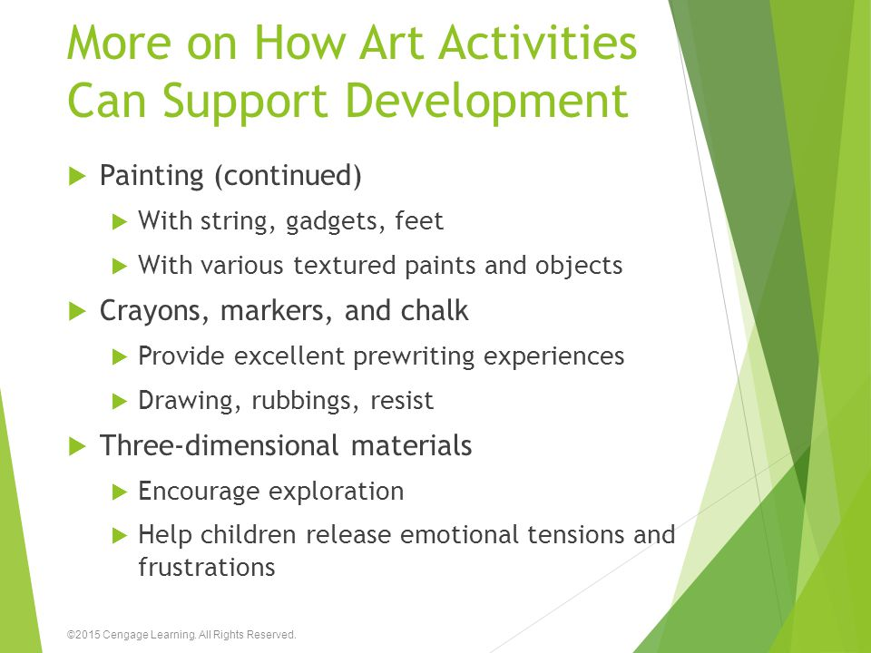 More on How Art Activities Can Support Development