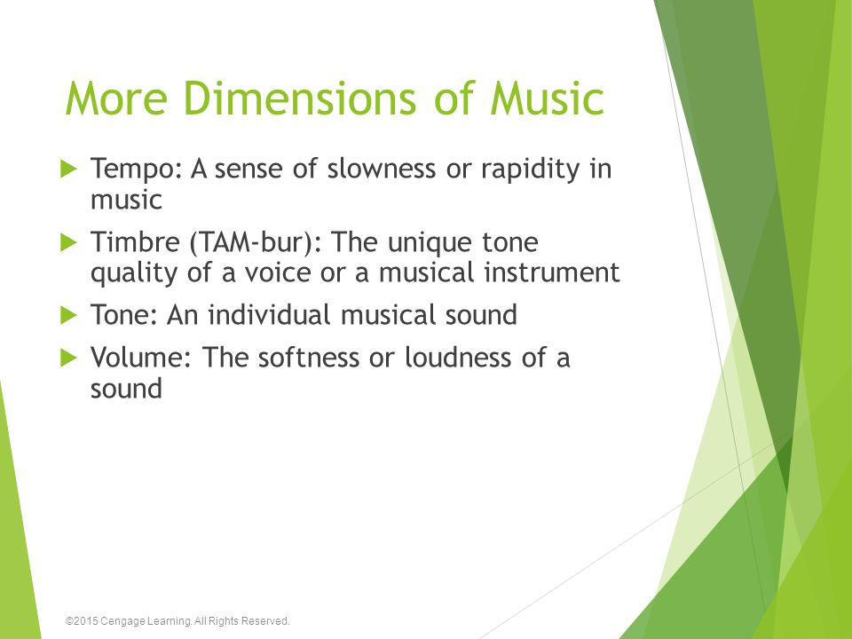 More Dimensions of Music