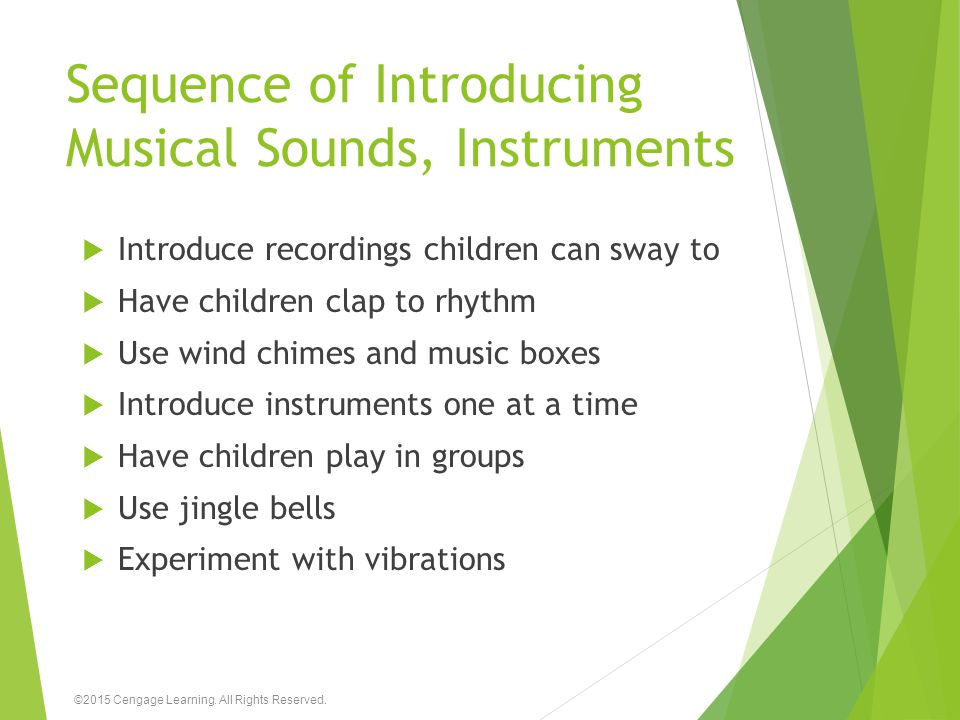 Sequence of Introducing Musical Sounds, Instruments