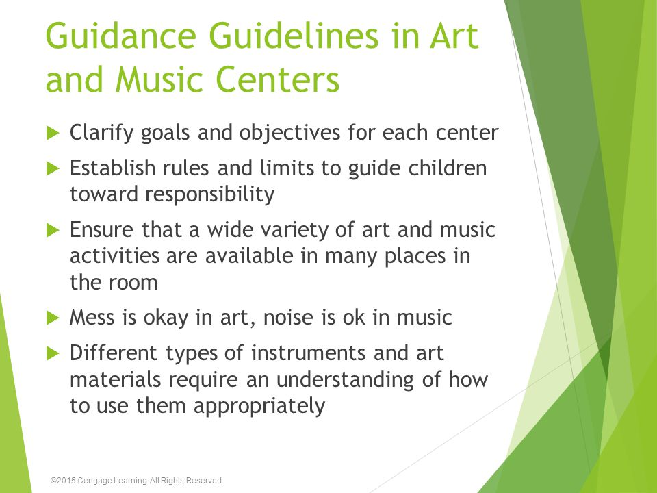 Guidance Guidelines in Art and Music Centers