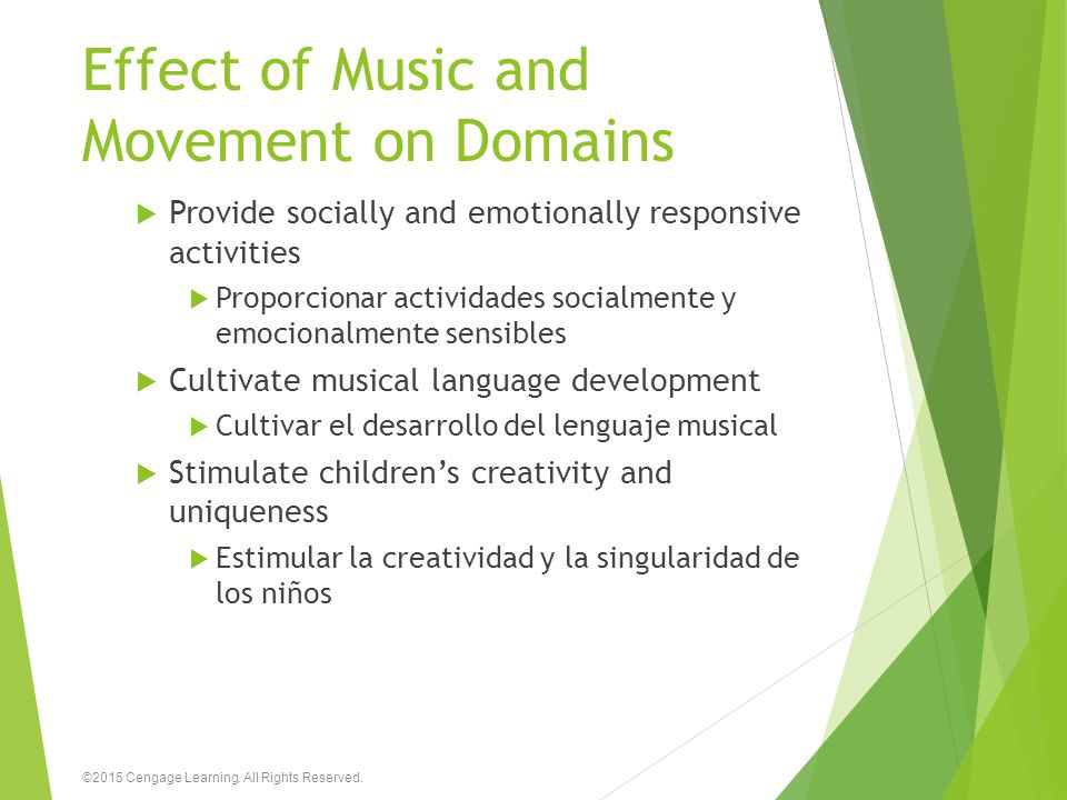 Effect of Music and Movement on Domains