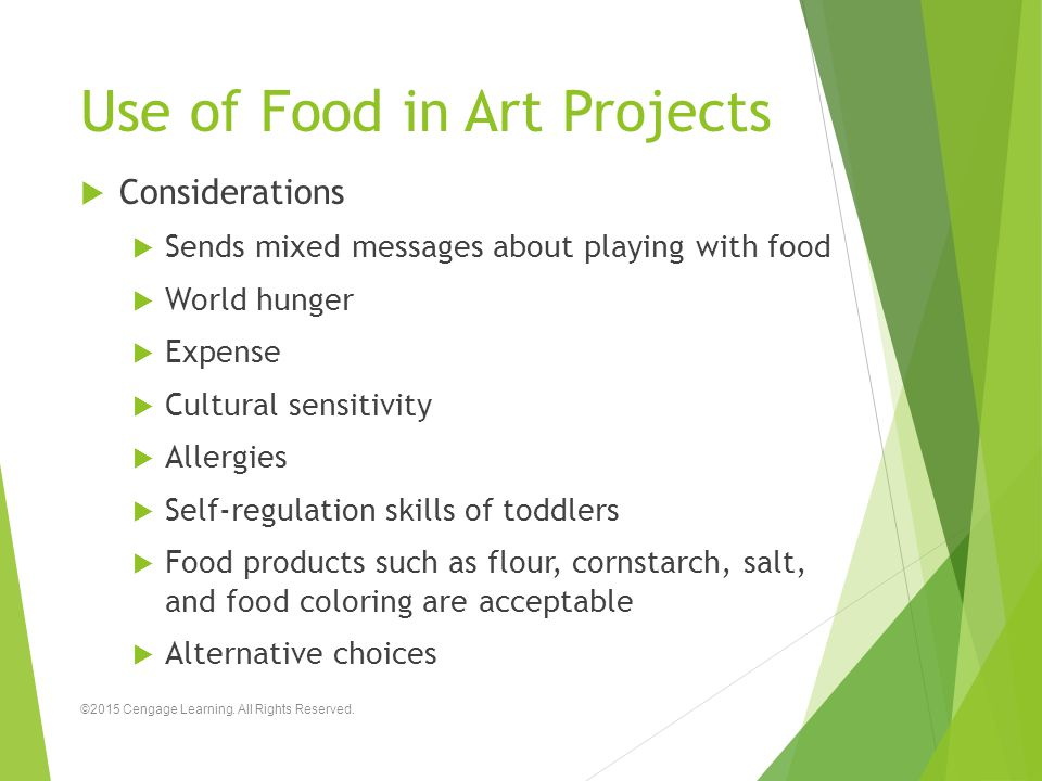 Use of Food in Art Projects