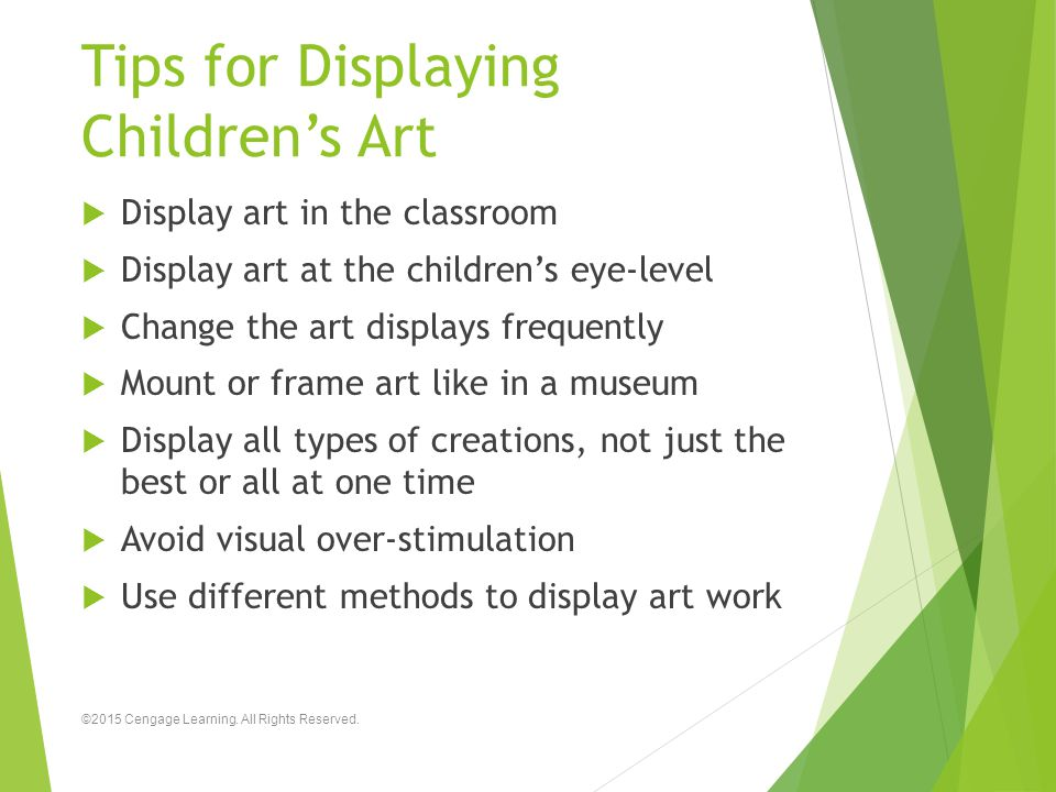 Tips for Displaying Children's Art