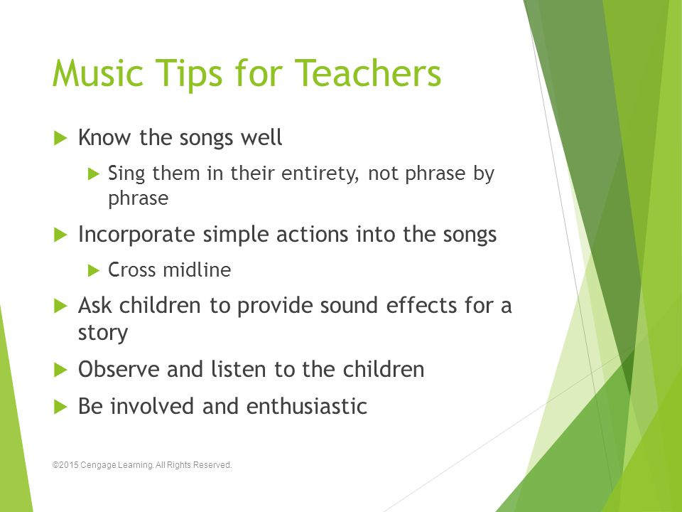 Music Tips for Teachers