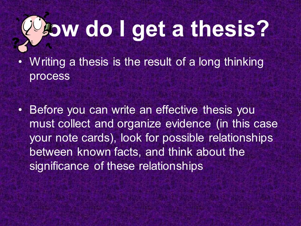 writing and effective thesis Editing tips for effective writing one or two meetings to go over even a small section of your thesis could improve your writing dramatically.