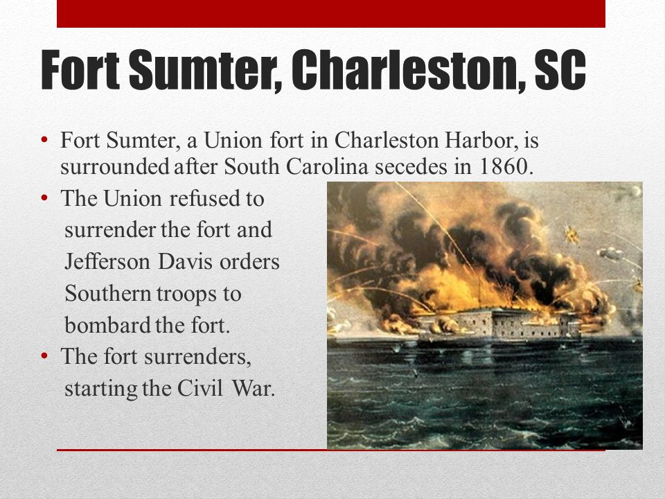 Fort Sumter, Charleston, SC