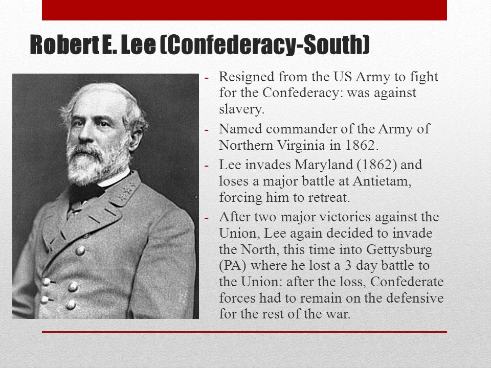 Robert E. Lee (Confederacy-South)
