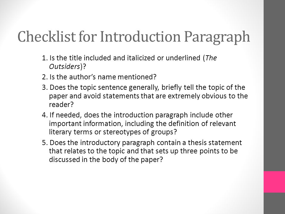 Essay Introductions