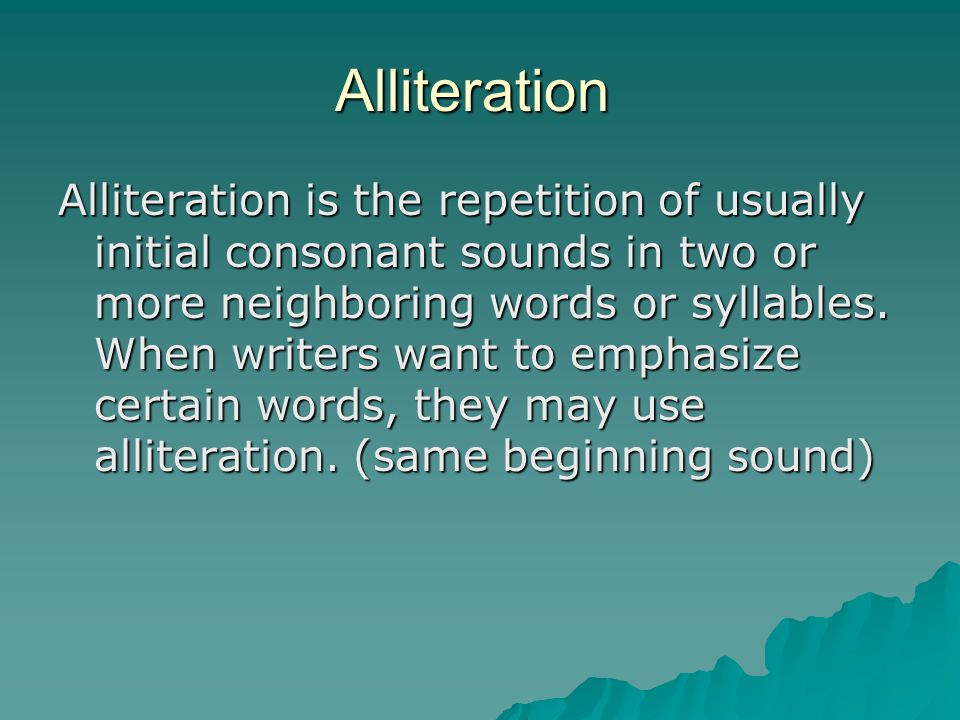 Circuit 4 - Alliteration, Assonance, and Rhyme Use the laptop to ...