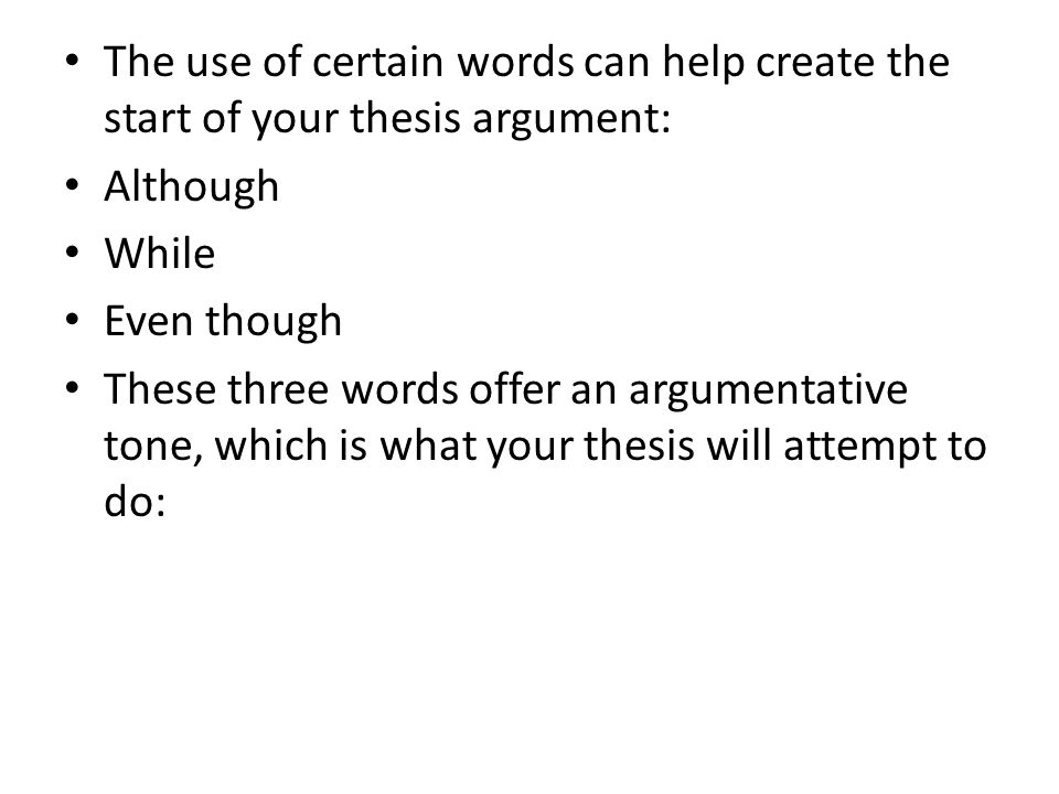 words that use the root thesis