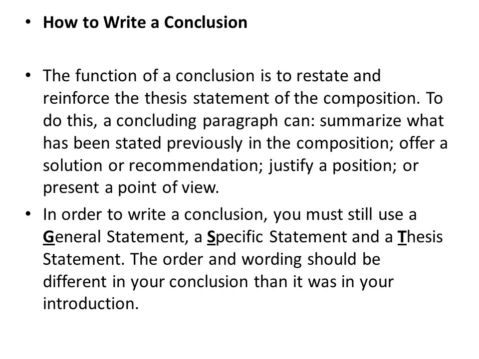 writing conclusion paragraphs Discover how to write a killer essay conclusion and learn tips and tricks on how on how to write something that is impactful how to write a conclusion for an essay.