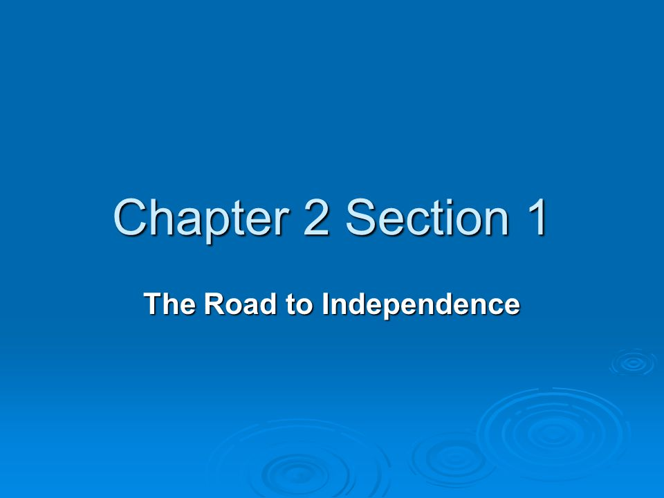 road to independence Read a timeline of the major events that led to the declaration of independence on july 4, 1776.