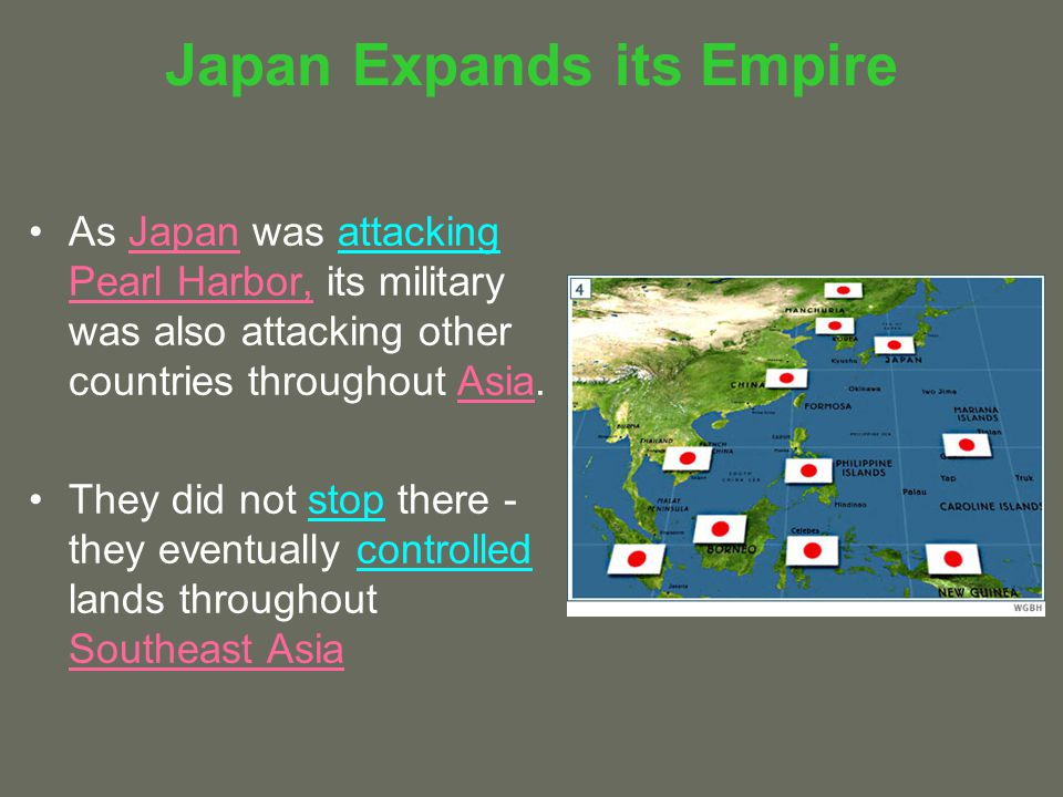 Japan Expands its Empire