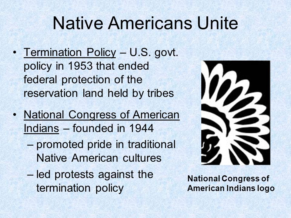 an overview of americas policy against native americans 'of course we are crazy': discrimination of native american indians through criminal justice1 scott tighe2 justice policy journal volume 11, number 1 (spring.