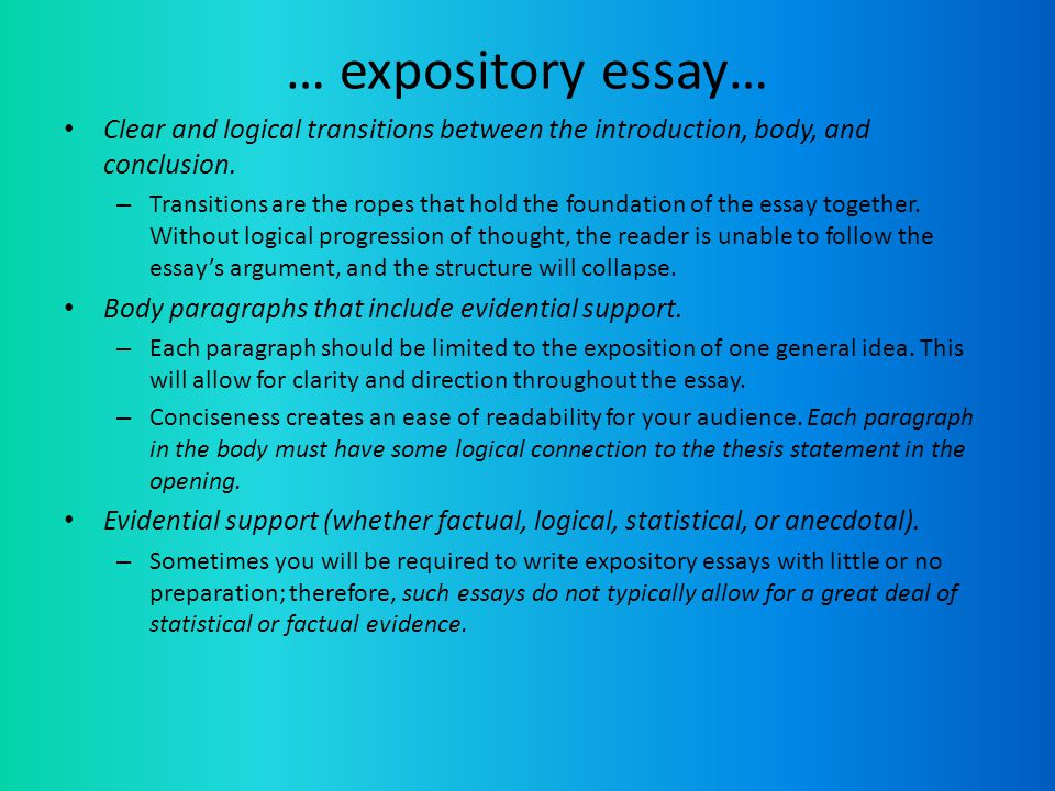 expository essay introductions For an expository essay writing the introduction everyone loves to do the things that they do well, and this love usually applies to hobbies and sports think of.
