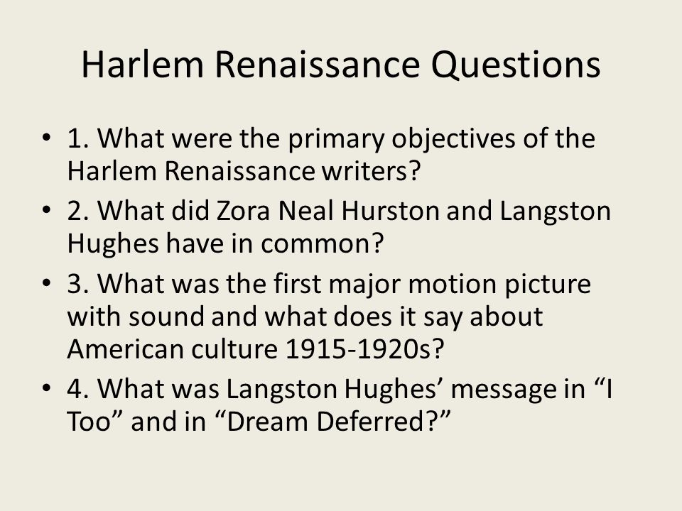 poetry and harlem renaissance essay