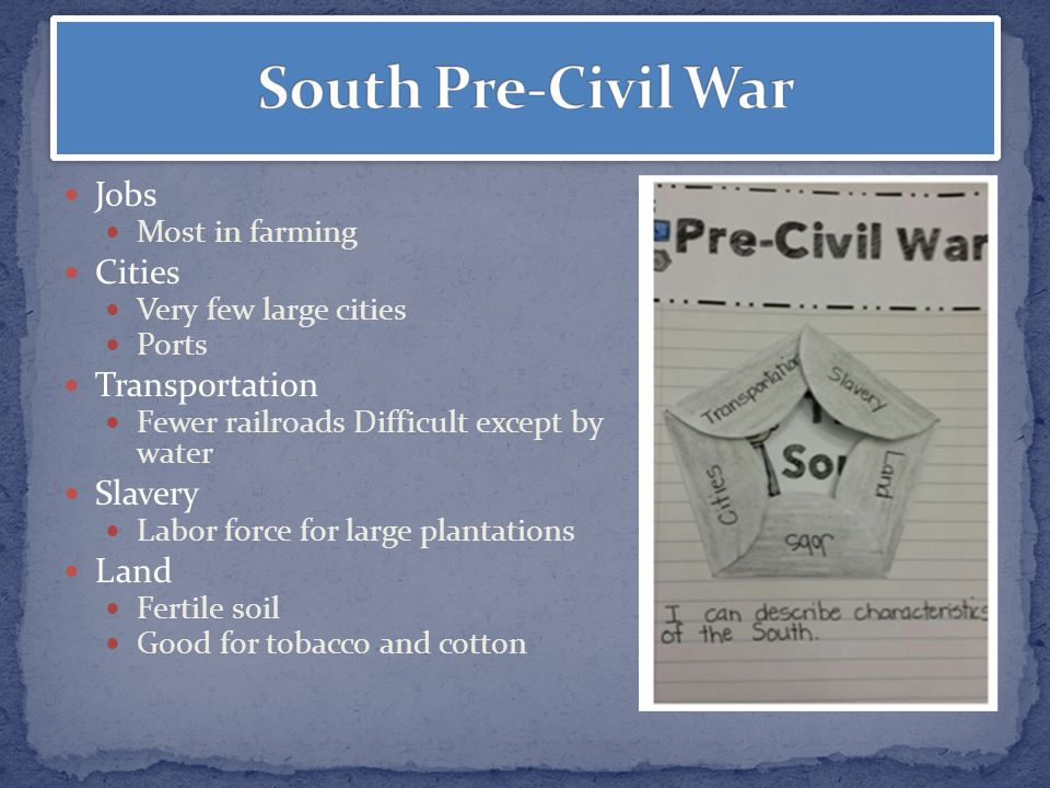 pre civil war Critical essays the pre-civil rights south bookmark this page manage my reading list the pre-civil rights era bridges the gap between the end of the civil war (1865.