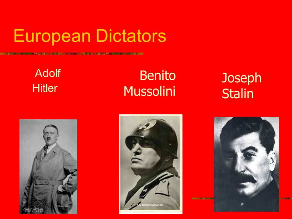 Adolf hitler and benito mussolini not logical