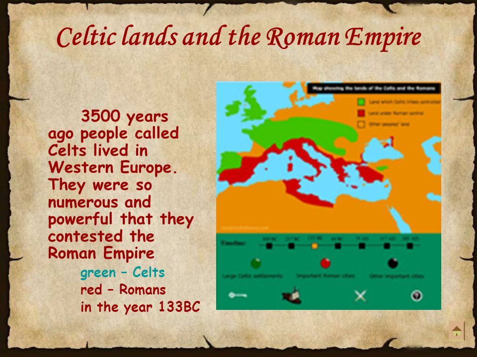 Celtic lands and the Roman Empire