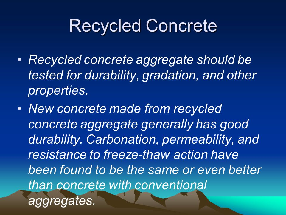 recycled aggregates in new concrete pdf