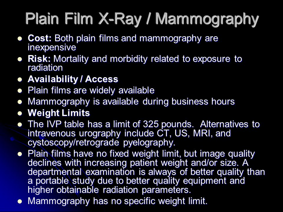 Plain Film X-Ray / Mammography