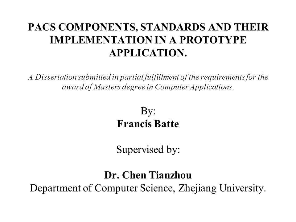 dissertation submitted in partial fulfillment of the requirements A thesis submitted in partial fulfillment of the requirements for the degree of master of science in environmental sciences in the faculty of graduate studies.