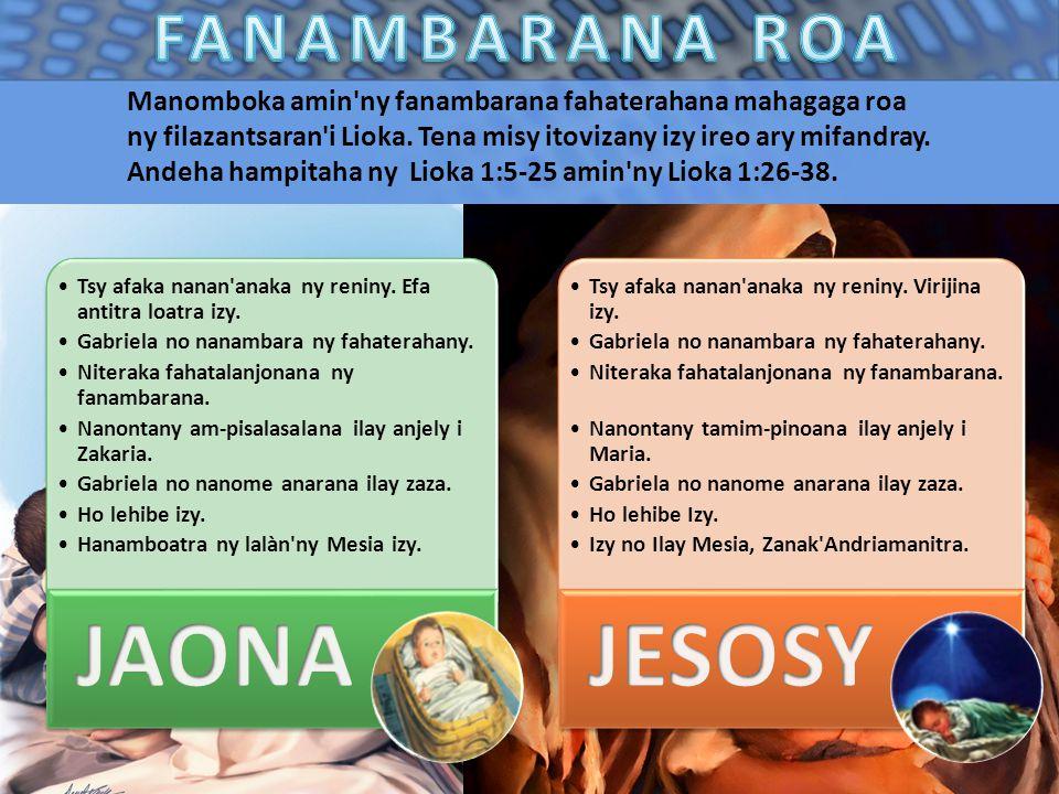 JAONA JESOSY FANAMBARANA ROA