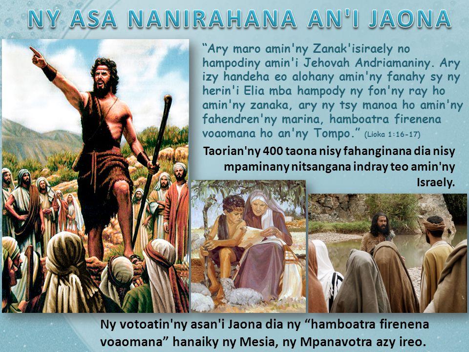 NY ASA NANIRAHANA AN I JAONA