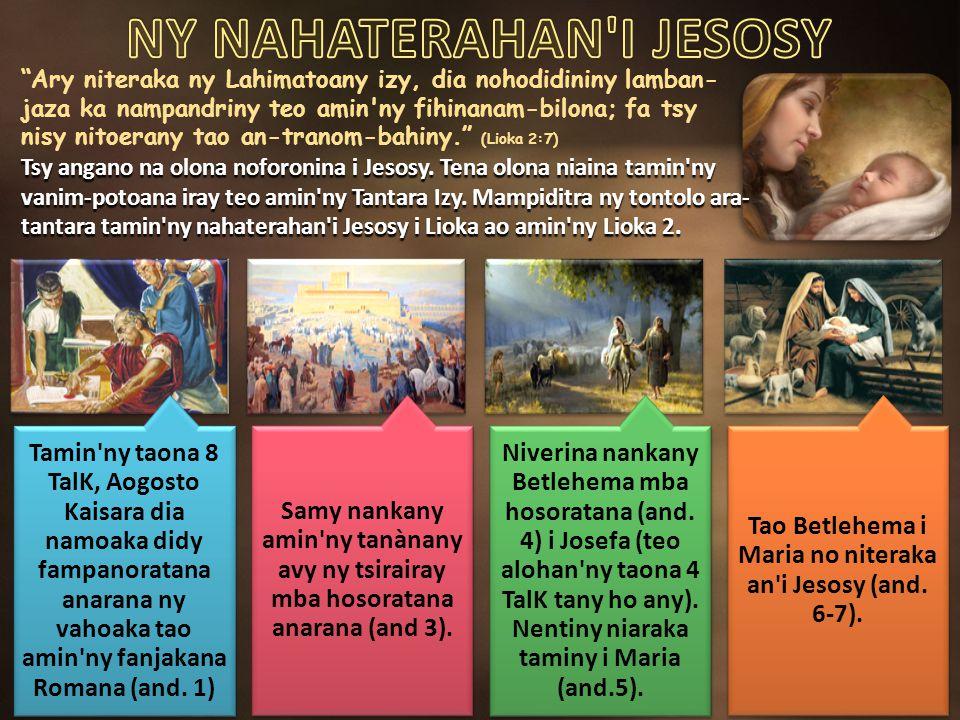 NY NAHATERAHAN I JESOSY