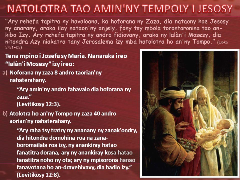 NATOLOTRA TAO AMIN NY TEMPOLY I JESOSY