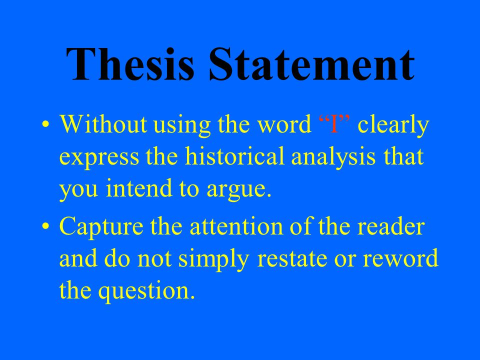 Example of Thesis Statement - What Is a Thesis Statement