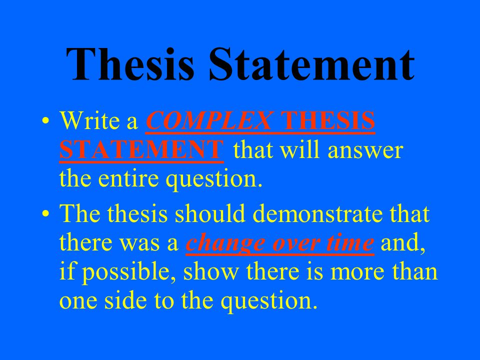 thesis staements Now it's time to come up with a thesis statement — the point that you want to make about goldie and the furry guys forming a thesis statement.