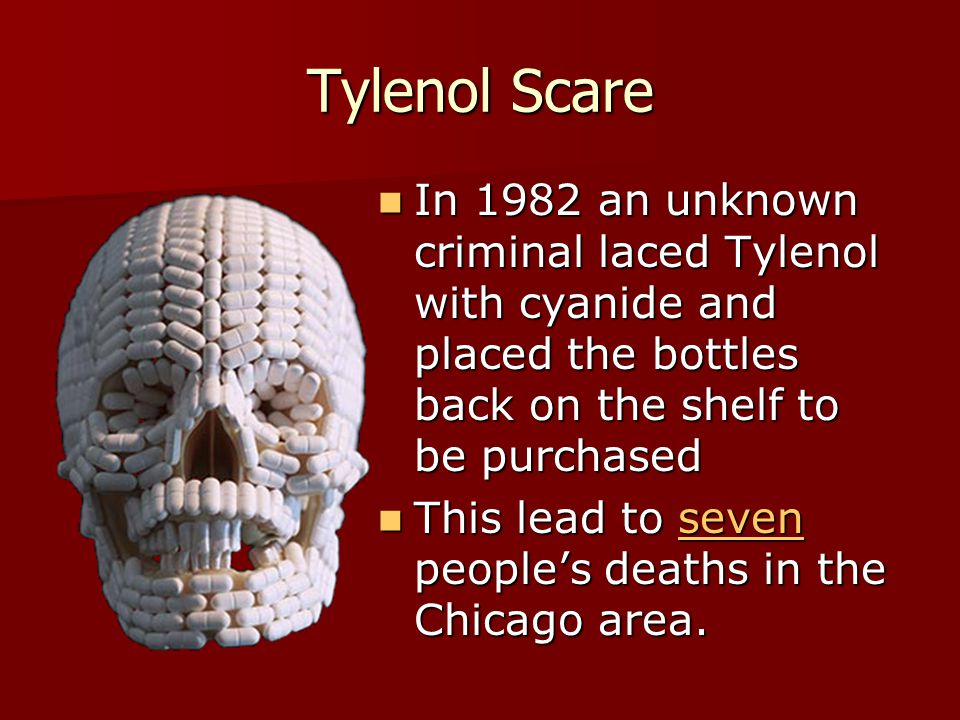 account of the tylenol cyanide crisis of 1982 The johnson & johnson tylenol crisis a shocking news of seven people death after taking cyanide laced capsules the crisis 11, 1982 tylenol.