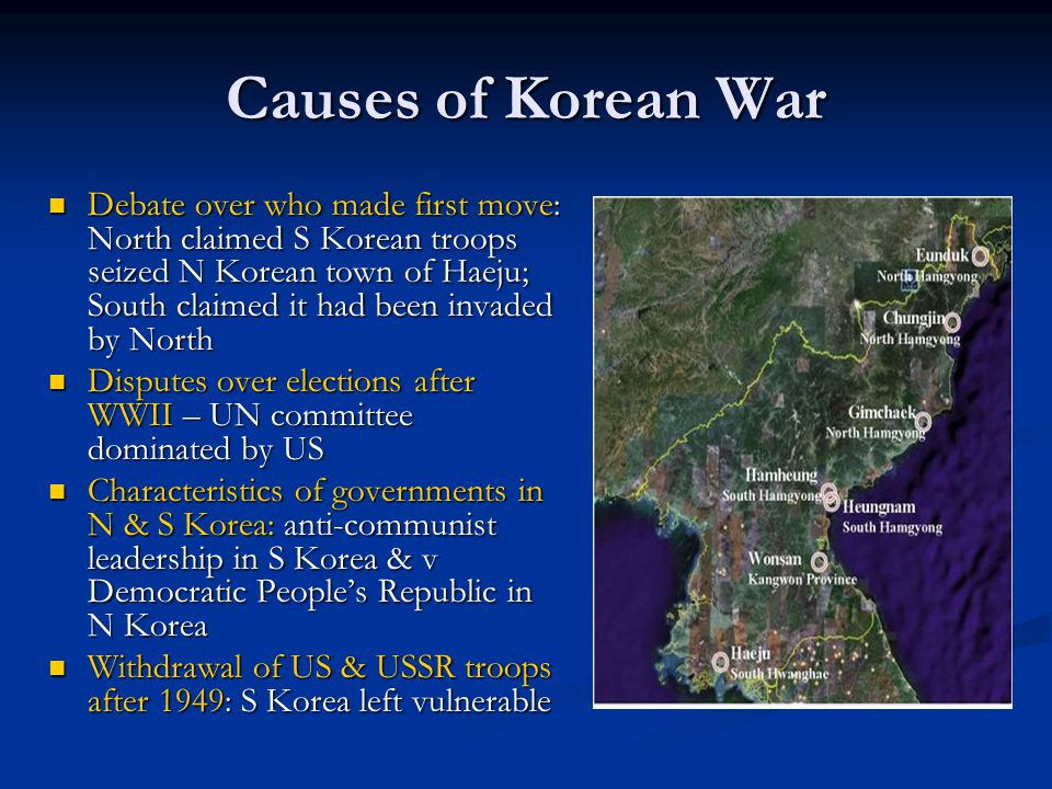 An analysis of the cause of the korean war