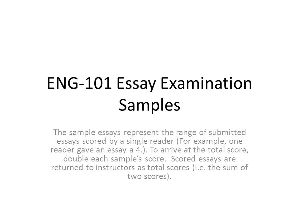 eng essay examination samples ppt video online  eng 101 essay examination samples