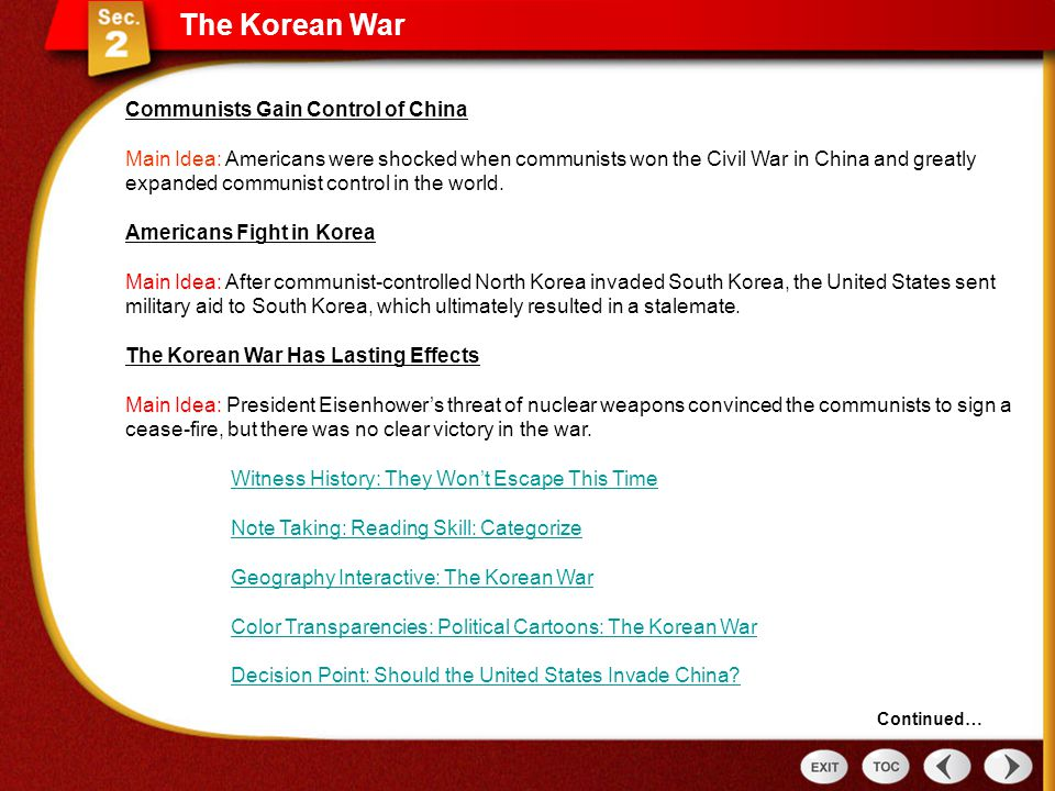 a history of the united states involvement in the korean civil war American involvement in wars from colonial times to the present search the site go history & culture  the most recent war fought on american soil was the civil war which ended in 1865–more than 150 years ago  korean war: united states (as part of the united nations) and south korea vs north korea and communist china.