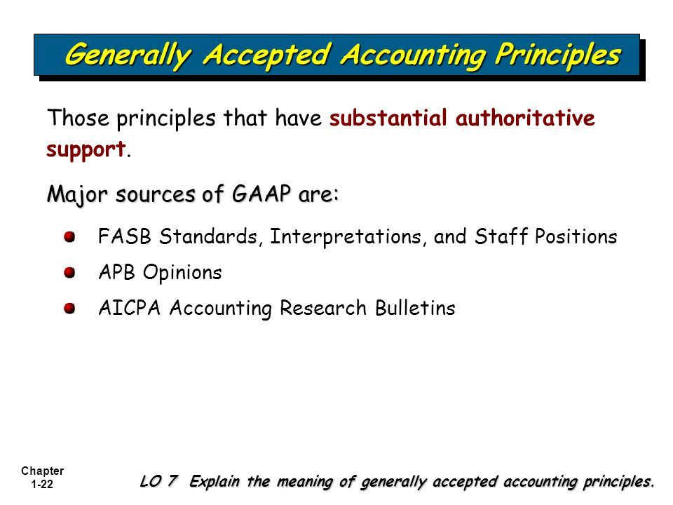 generally accepted accounting principles and financial