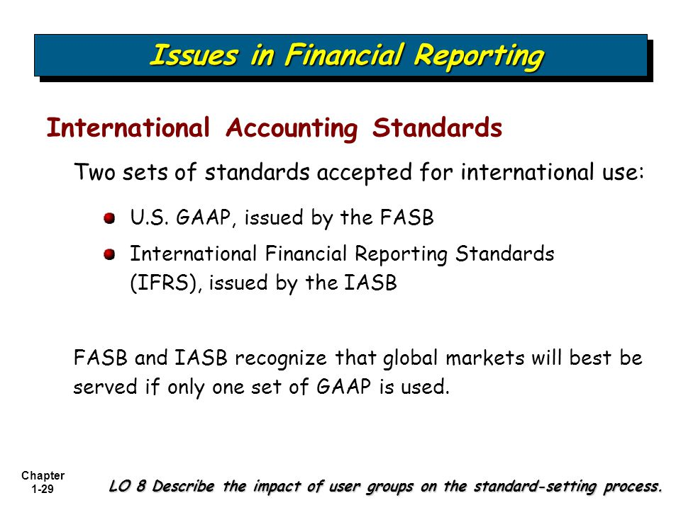 international financial accounting International financial reporting standards (ifrs) is the accounting method  that's used in many countries across the world it has some key differences from  the.