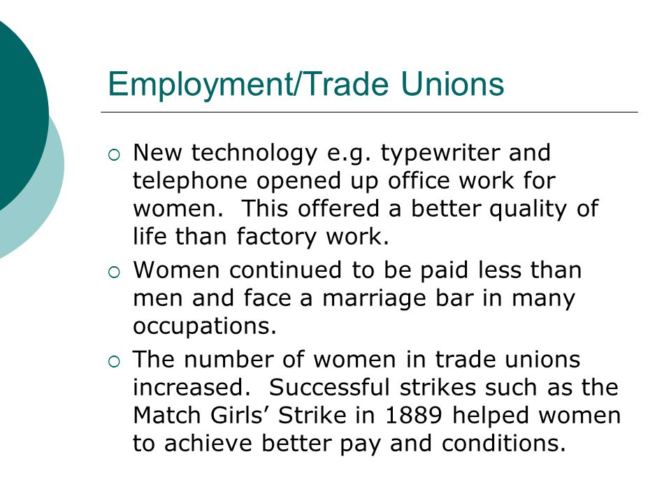 Employment/Trade Unions