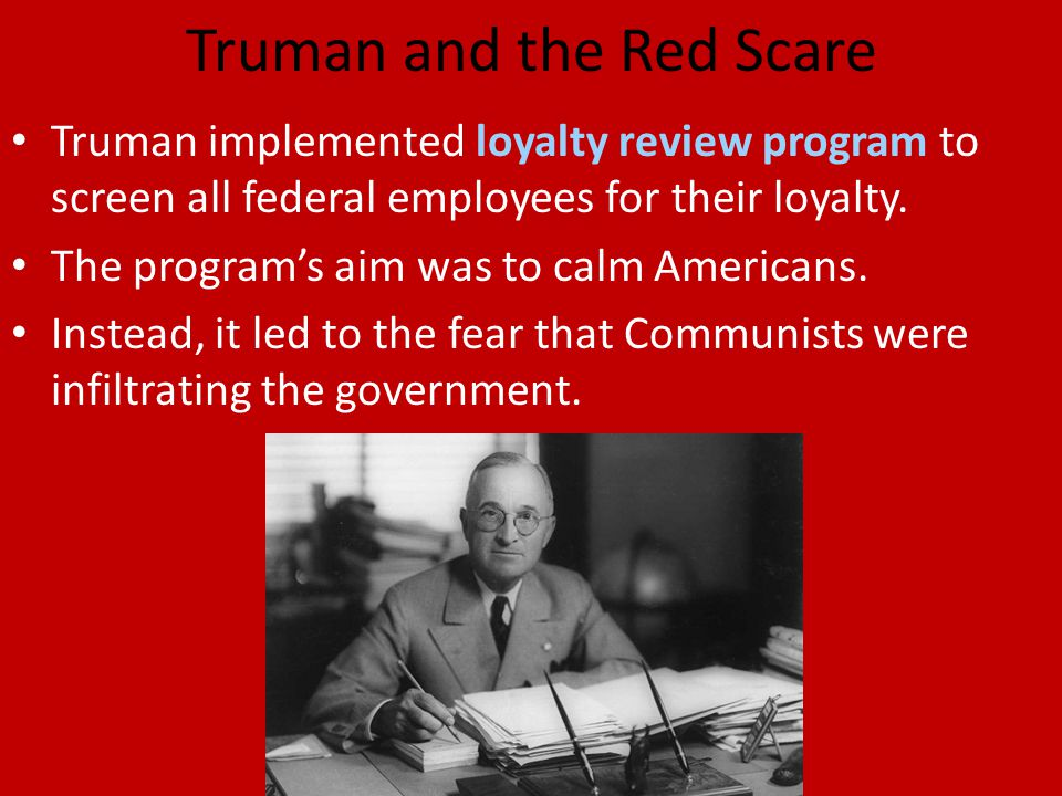 Truman and the Red Scare