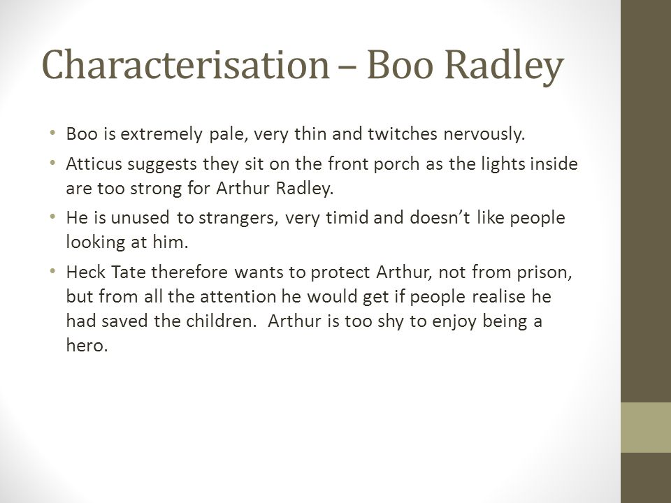 kelso high school english department ppt characterisation boo radley