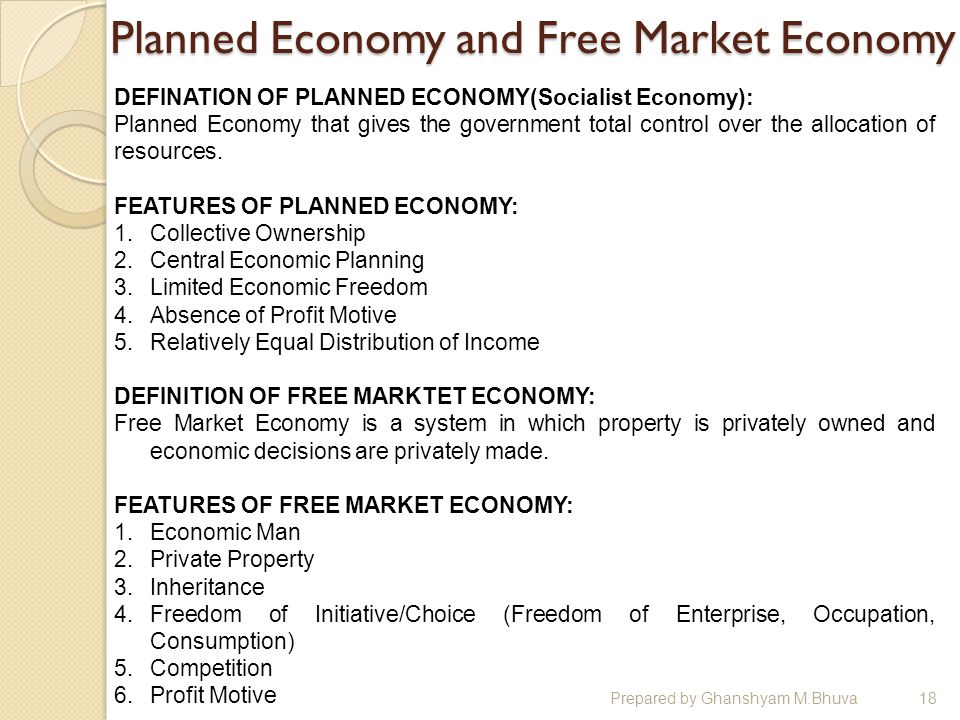 Difference Between Planned Economy and Market Economy