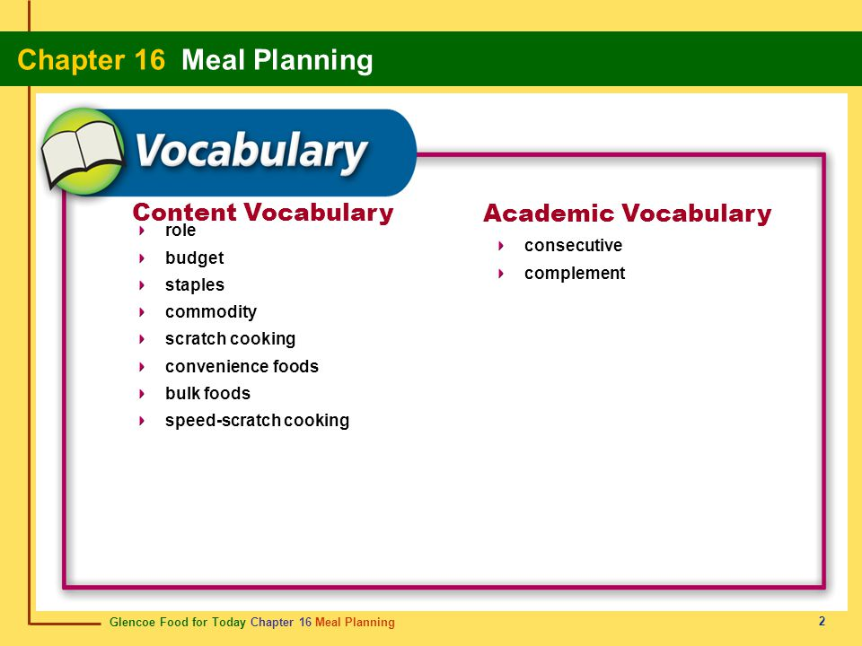Content Vocabulary Academic Vocabulary role budget consecutive staples