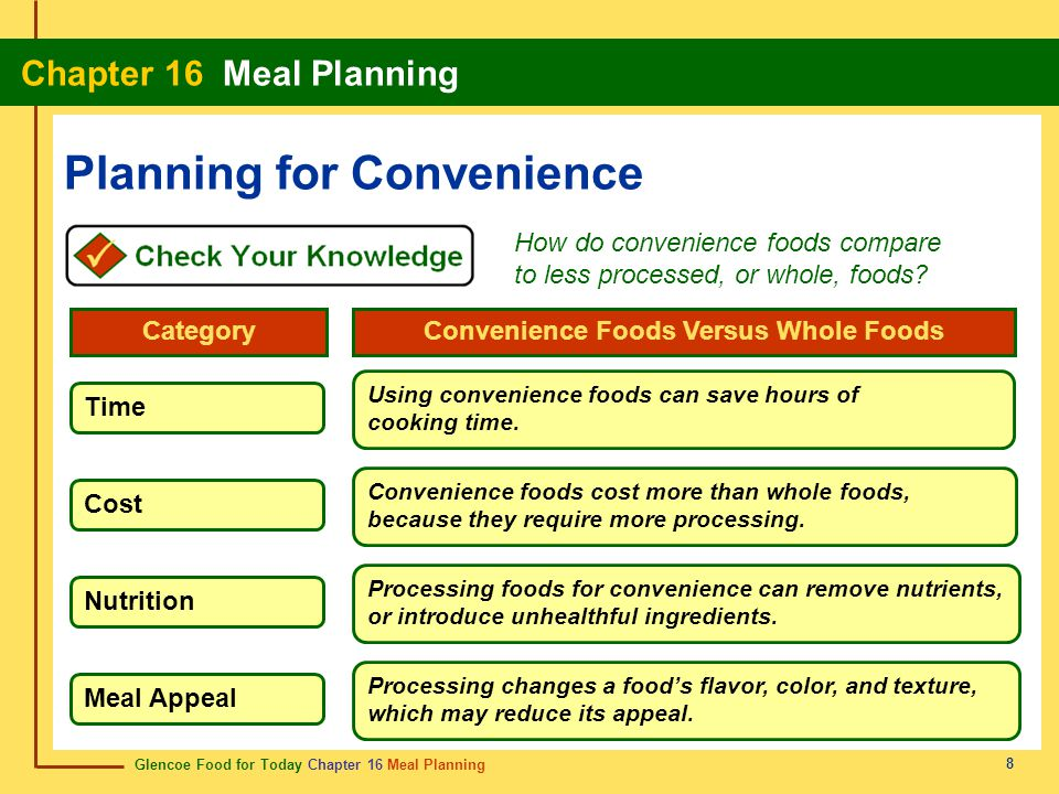 Planning for Convenience